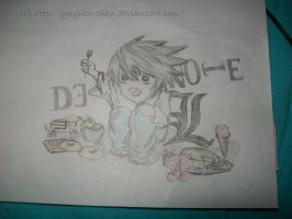 L Chibi :D -Death Note- by Yuyiko-chan