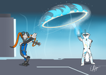 Nezha and Frost by Schnuron