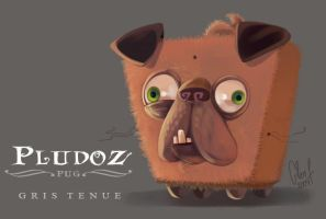 PLUDOZ PUG design by Axigan