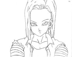 Android 18 by fvckfdaname