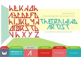 thetrainingartistfont_byweknow by weknow