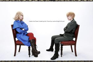 Hetalia:UK and France 2 by azuooooo