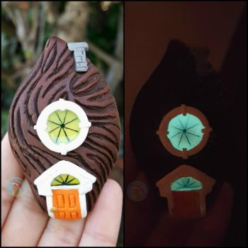 James and the Ginat Peach Pit House by CreationsByMelissa