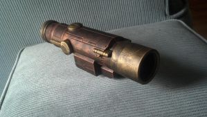 Nerf Steampunk Longshot Scope painted by DrDisco777