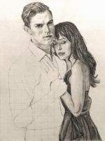 WIP Part 2: Christian and Ana by SHParsons