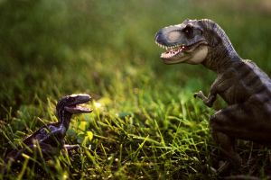 Prehistoric Face-Off by trowicia