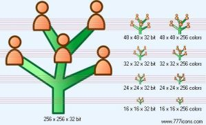 Genealogy Icon by science-icons
