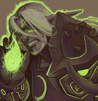 Hyoue and the Fel Flame by CrewOfTheBloodyDawn
