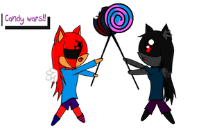 Candy wars!!! .:~gift for RubyandShadow4ever~:. by lune101