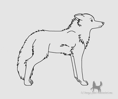 FREE Wolf Lineart -2 by Jenny2-point-0