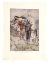 Vintage bible print - Isaac by OMEGA86