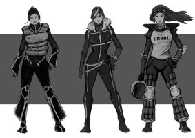 Female Snowboarders by ardyzda