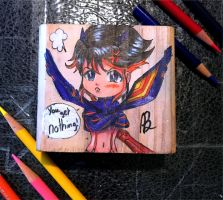 Chibi Ryuko on a block by Austin-Barnitz