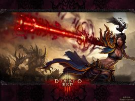 Diablo 3 - Wizard Wallpaper by Lythus