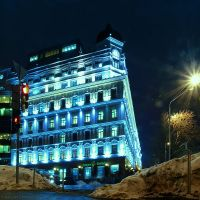 Nightly Kiev. Blue House by AlexGontar