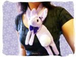 Candy Violet Bunny Rabbit Scarf by Cateaclysmic