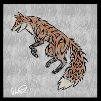 Tribal Design- Laughing Fox by ControlledChaotic