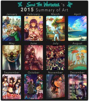 2015 Summary of Art by Snow-the-Wanderer