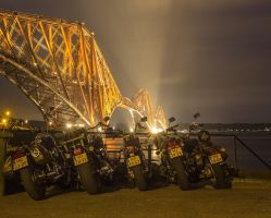 Bikes parked at Forth Bridge by BusterBrownBB