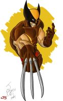 Ol' Skool Wolverine Coloured by JayoMarvel