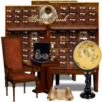 Library Steampunk Library by TheAngeldove