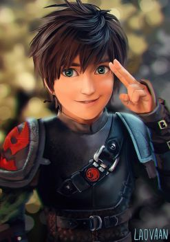 Liui Aquino as Hiccup  - Chibi by Laovaan