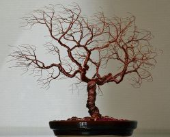 Wind swept wire tree sculpture by minskis