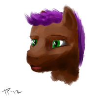 Bourbon in Intuos by JulepPony