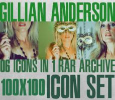 Gillian Anderson Icon Set I by haunted-passion