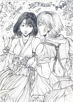 Tidus and Yuna by Autumn-Sacura