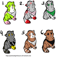 Cheap wolf adoptables 2 by Icey-adopts