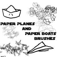 Paper Planes and  Boat Brushes by Mister-Pancake