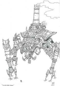 Steampunk Reaper Destroyer_contest entry by 1r9