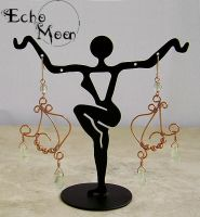 Copper Prehnite Earrings by EchoMoonJewelry