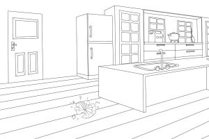 Hetaoni : Kitchen-Lineart by Kalafin99