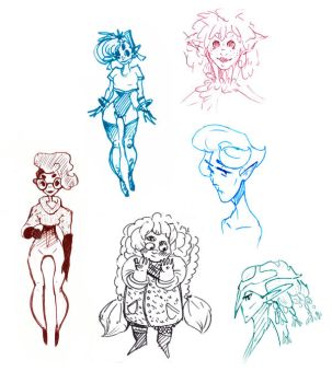 Some character sketches by Valanta