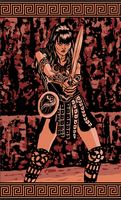 XENA, THE WARRIOR PRINCESS by Fernandolopezleonart