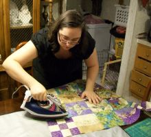 My Quilt Topper - Ironing by Faith-Bailey