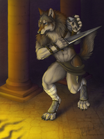Lycanthrope Warrior by CunningFox