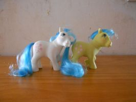 my little pony collection: yellow vs white tootsie by theladyinred002