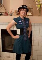 My $6 Doctor Who TARDIS costume by Paleogirl