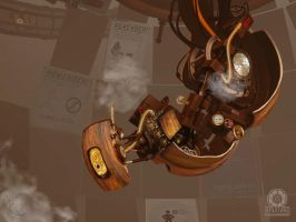 Steampunk GLaDOS by Mad-Mad-Muffin