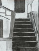 Charcoal Stairs by Sweet-Pan