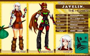 CR - Character Sheet: Javelin by crimson-grizzly