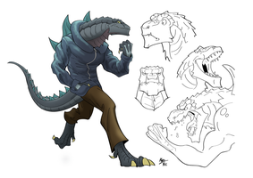Mobzilla: Trying a New Artstyle with Zilla Jr. by A3DNazRigar