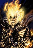Ghost Rider by Doom and Xaede by FlashColorist