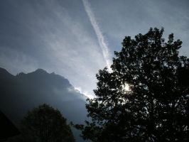 Mountains and light by Lutro