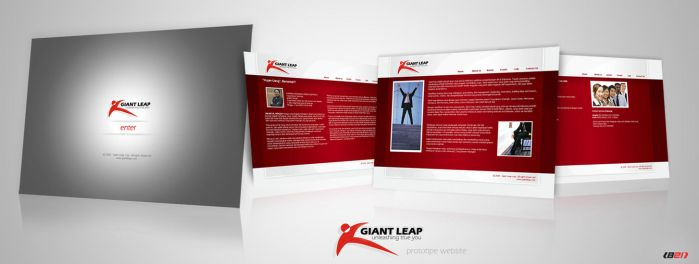 Giant Leap prototipe website by B21
