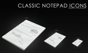 classic notepad icon by bisiobisio