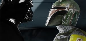 Darth Vader and Boba Fett by jmont